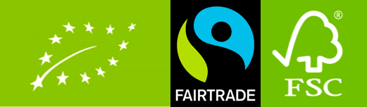 eco fairtrade fsc